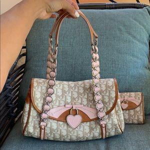 Christian Dior trotter romantique shoulder bag